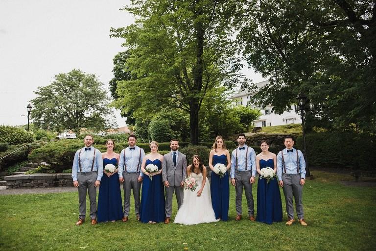 Bridal Party At Wolfeboro Inn