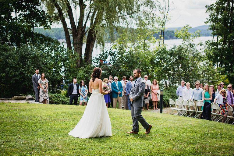 Groom Meets Bride At Wolfeboro Inn Wedding