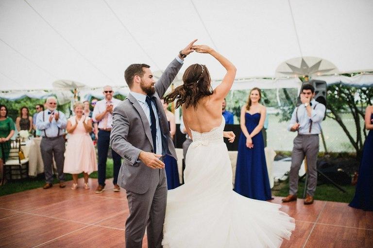 First Dance During Wolfeboro Inn Wedding